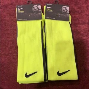 2 pairs Nike soccer caper over the calf socks